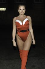 APOLLONIA LLEWELLYN in a Santa Outfit Night Out in Liverpool 12/15/2020