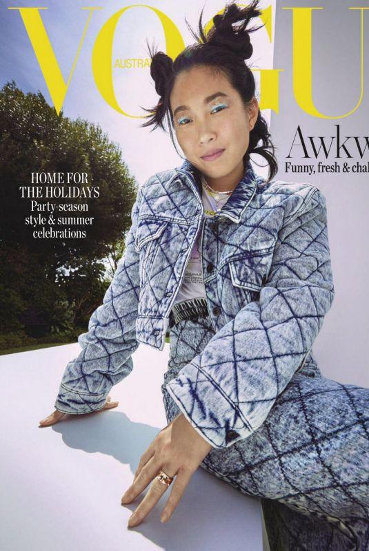 AWKWAFINA in Vogue Magazine, Australia December 2020