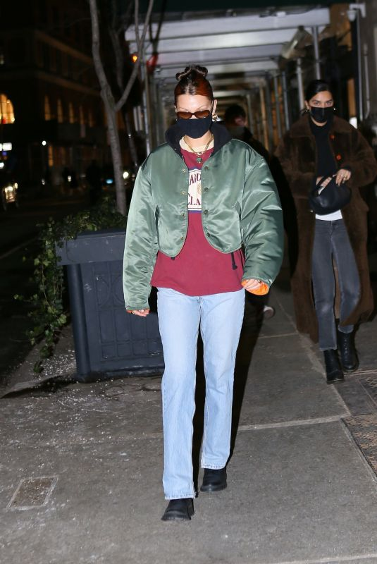 BELLA HADID Night Out in New York 12/22/2020