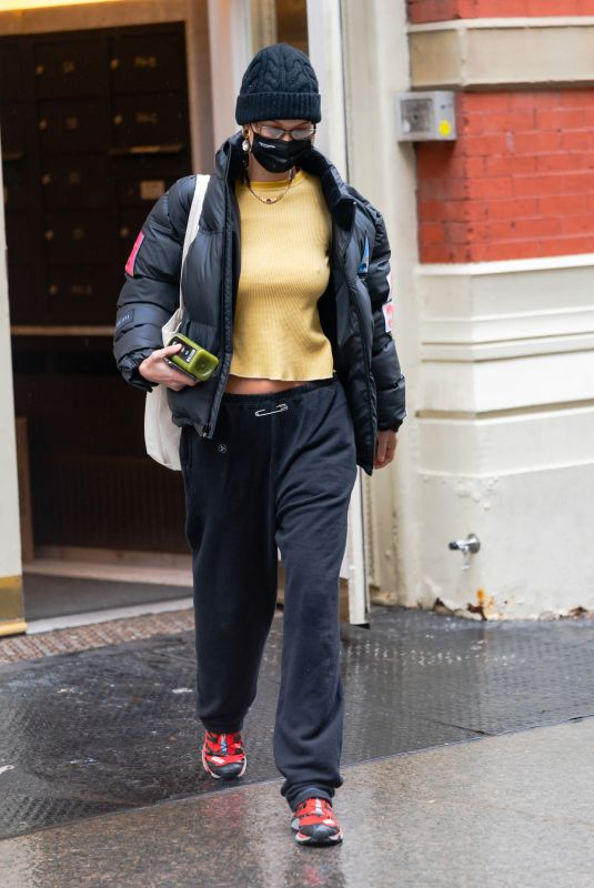 BELLA HADID Out and About in New York 12/05/2020