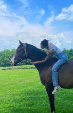 BELLA HADID Riding a Horse - Instagram Photos 12/01/2020