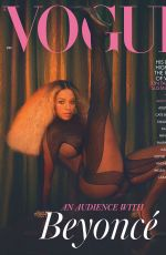 BEYONCE in Vogue Magazine, UK December 2020