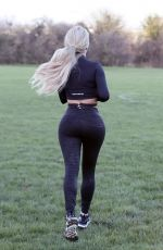 BIANCA GASCOIGNE Workout at a Park in Kent 12/26/2020