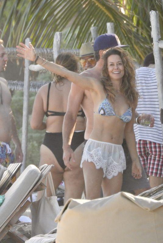 BROOKE BURKE in Bikini at a Beach in Tulum 11/28/2020