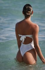 CANDICE SWANEPOEL in Swimsuit at a Beach in Miami 12/20/2020