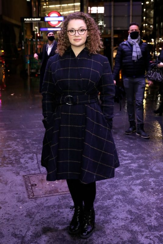 CARRIE HOPE FLETCHER at A Christmas Carol Opening Night at Dominion Theatre in London 12/14/2020