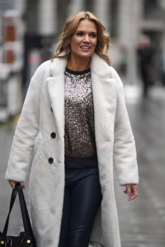 CHARLOTTE HAWKINS Arrives at Classical FM in London 12/22/2020