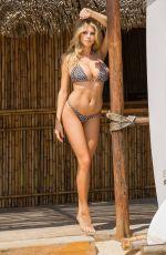 CHARLOTTE MCKINNEY in a Leopard Print Bikini at a Beach in Los Angeles 12/08/2020