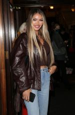 CHLOE SIMS at A Christmas Carol Opening Night at Dominion Theatre in London 12/14/2020