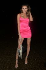 CHLOE VEITCH in a Pink Mini Dress Nught Out in Colchester 12/25/2020