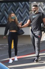 CHRISHELL STAUSE and Keo Motsepe Leaves a Gym in Beverly Hills 12/02/2020