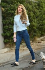 CHRISHELL STAUSE Out with Her Dog in Hollywood hills 12/08/200