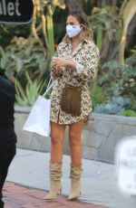 CHRISSY TEIGEN Out and About in Los Angeles 10/16/2020