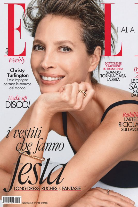 CHRISTY TURLINGTON in Elle Magazine, Italy January 2021