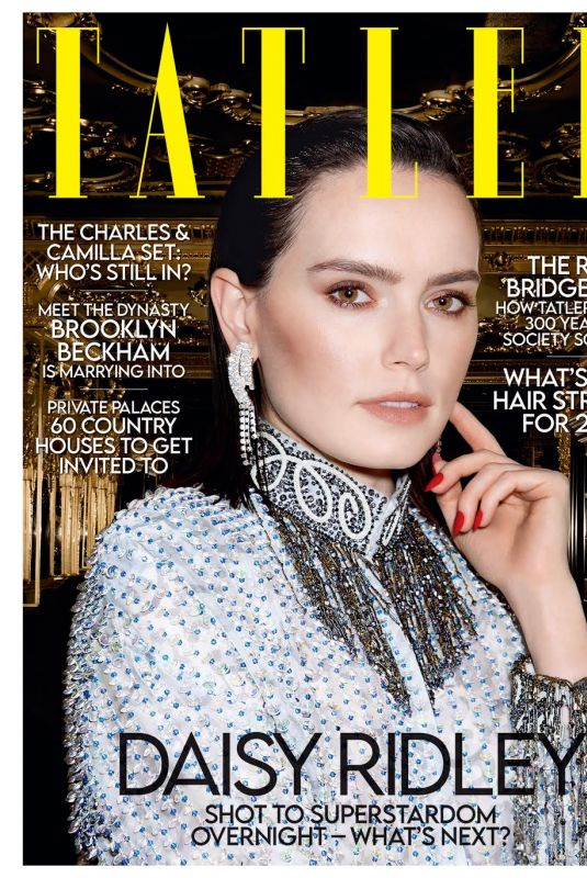 DAISY RIDLEY in Tatler Magazine, February 2021