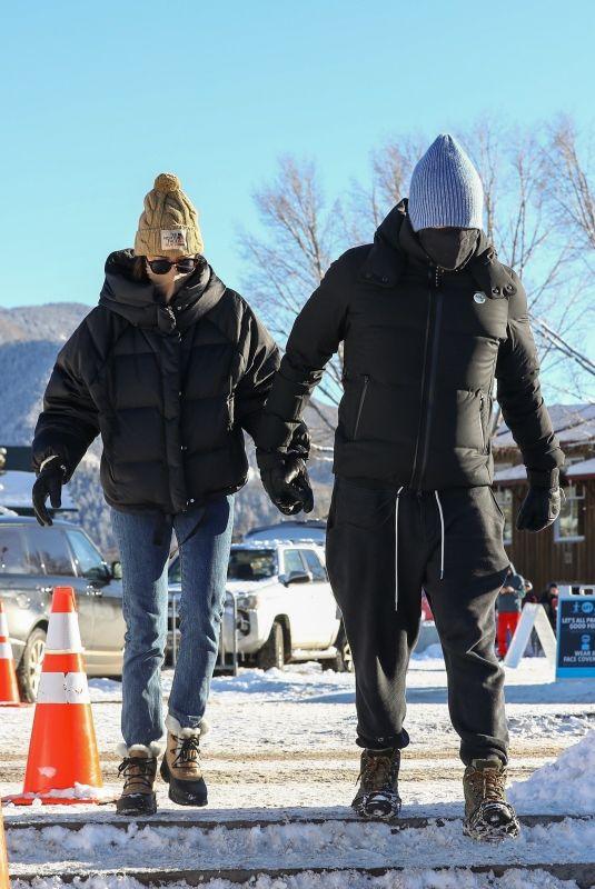 DAKOTA JOHNSON and Chris Martin at Buttermilk Ski Area in Aspen 12/30/2020