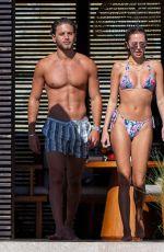 DELILAH HAMLIN in a Colorful Bikini at a Pool in Cabo San Lucas 12/01/2020
