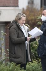 ELISABETH MOSS on the Set of The Handmaid