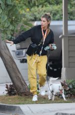 ELISABETTA CANALIS Out wuth Her Dog in Los Angeles 12/02/2020