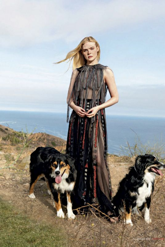 ELLE FANNING in Vanity Fair Magazine, Italy January 2021