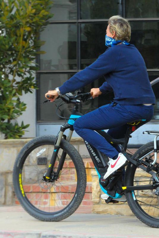 ELLEN DEGENERES Out Riding a Bike in Santa Barbara 12/27/2020