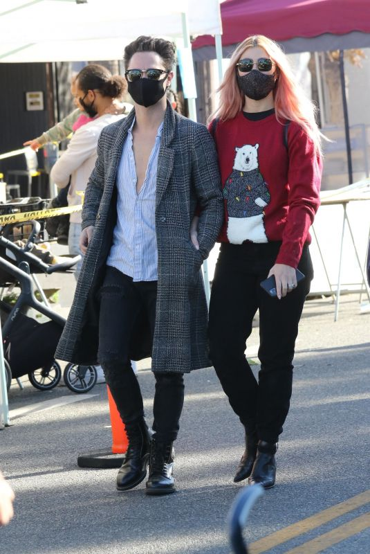 EMMA SLATER and Sasha Farber Out in Los Angeles 12/20/2020