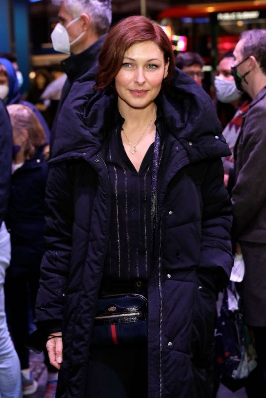 EMMA WILLIS at A Christmas Carol Opening Night at Dominion Theatre in London 12/14/2020