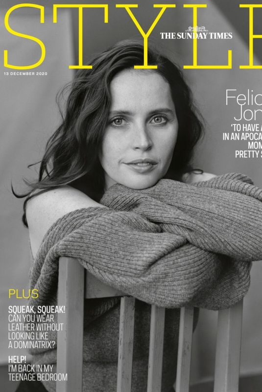 FELICITY JONES in The Sunday Times Style Magazine, December 2020