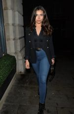 FRANCESCA ALLEN Arrives at Novikov Restaurant in London 12/15/2020