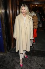FRANKIE ESSEX at A Christmas Carol Opening Night at Dominion Theatre in London 12/14/2020