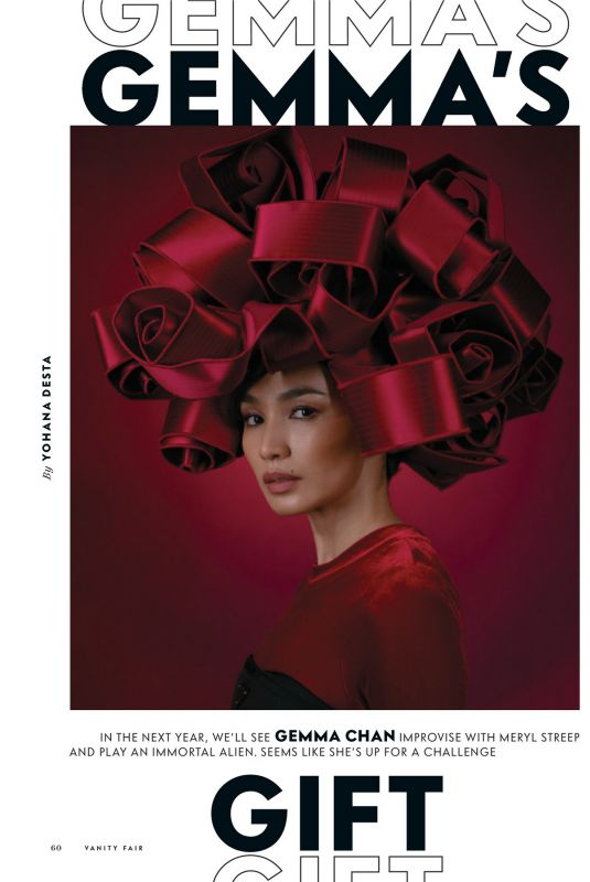 GEMMA CHAN in Vanity Fair Magazine, Holiday 2020/21 Issue