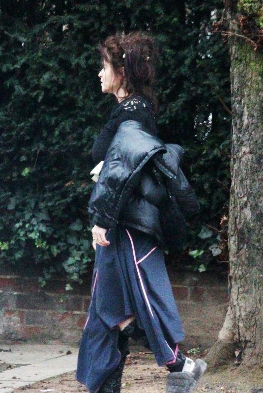 HELENA BONHAM CARTER Out and About in Hampstead 12/28/2020