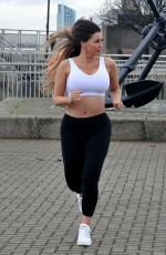 HOLLY HENDERSON Out Jogging in Liverpool 12/17/2020