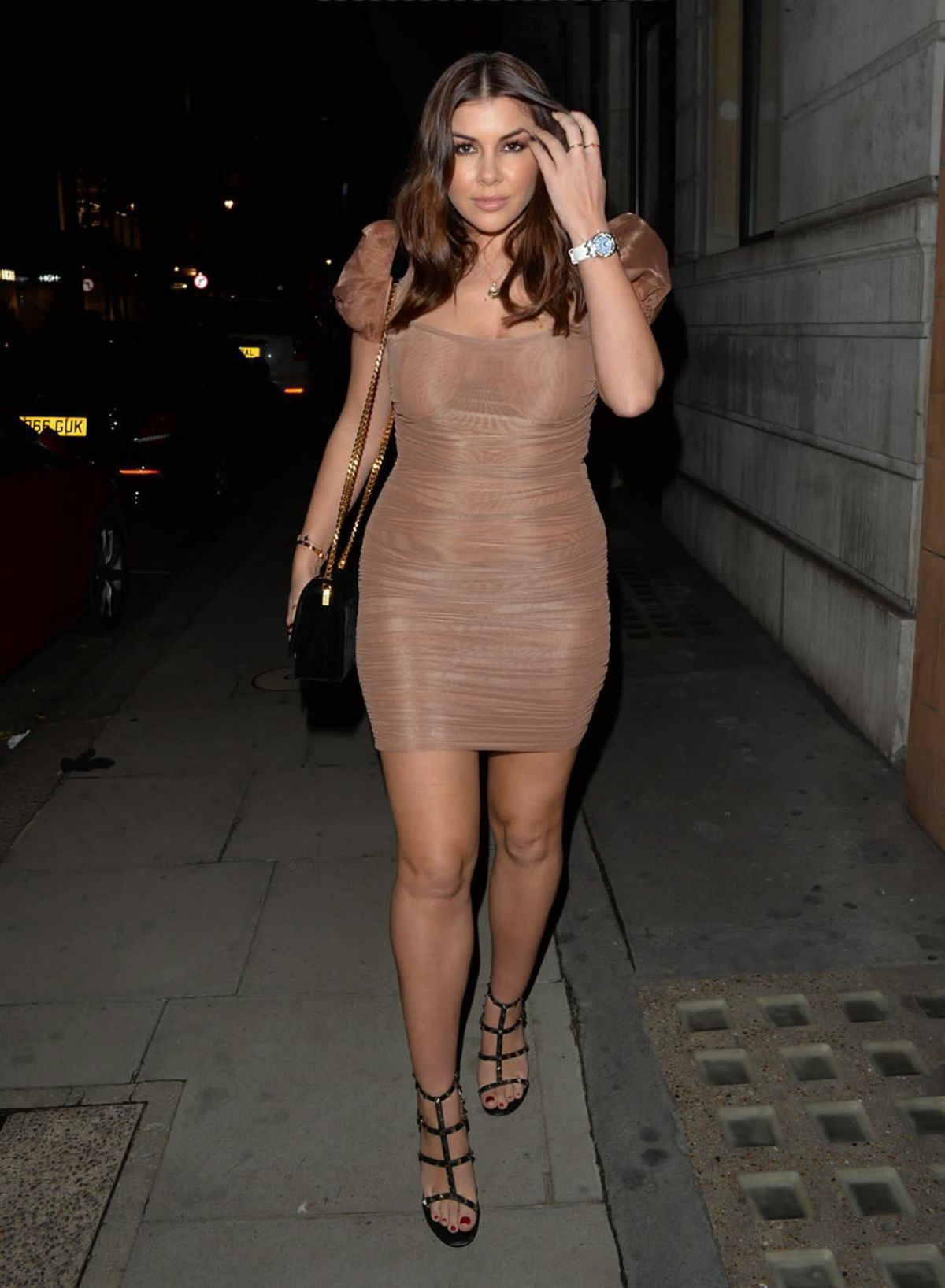 IMOGEN THOMAS in a Tight Dress at Bagatelle in London 12/06/2020 –  HawtCelebs