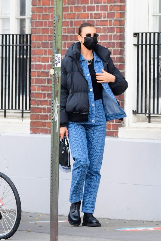 IRINA SHAYK Out in New York 12/02/2020