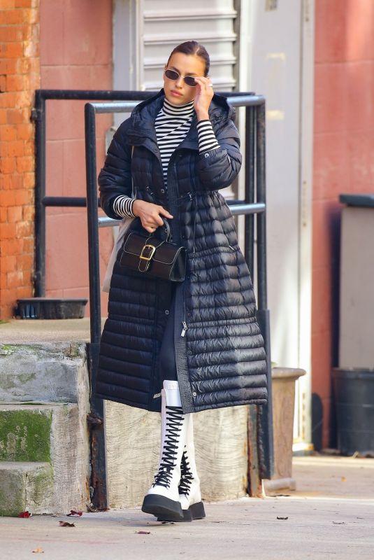 IRINA SHAYK Out Shopping in New York 12/11/2020