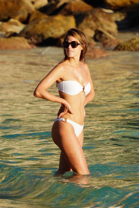 IRIS MITTENAERE in Bikini at a Beach in St.Barth 12/14/2020