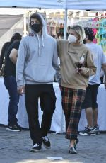 JAIME KING and Sennett Devermont at Flea Market in West Hollywood 12/20/2020