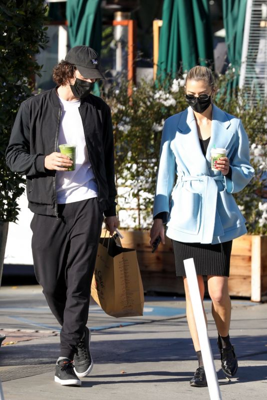 JAIME KING and Sennett Devermont Out in West Hollywood 12/29/2020