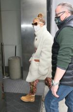 JENNIFER LOPEZ Arrives at a Studio in New York 12/30/2020