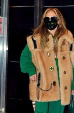 JENNIFER LOPEZ Leaves a Studio in New York 12/28/2020