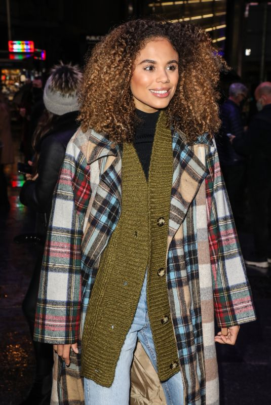 JESSICA PLUMMER at A Christmas Carol Opening Night at Dominion Theatre in London 12/14/2020