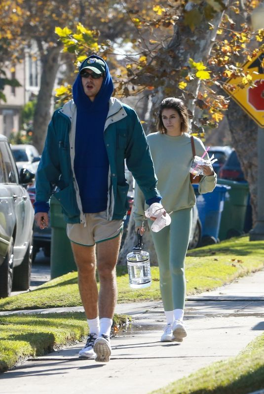 KAIA GERBER and Jacob Elordi Leaves Dogpound Gym in West Hollywood 12/02/2020