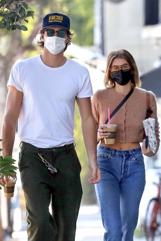 KAIA GERBER and Jacob Elordi Out for Iced Coffee in Los Angeles 12/03/2020