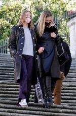 KATE and LILA GRACE MOSS Out and About in Rome 12/13/2020