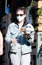 KATE MARA Out for Coffee with a Friend in Los Feliz 12/20/2020