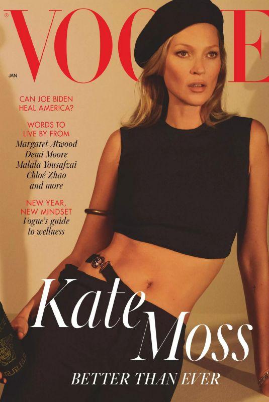 KATE MOSS in Vogue Magazine, UK January 2021