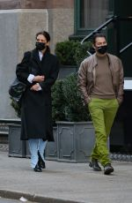 KATIE HOLMES and Emilio Vitolo Jr Out in New York 12/02/2020