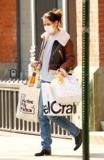 KATIE HOLMES Out with Shopping Bags in New York 12/23/2020