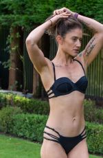KATIE WAISSEL in Bikini Filming for Her Fitness Bootcamp Website The Shed in Rhodes 12/22/2020